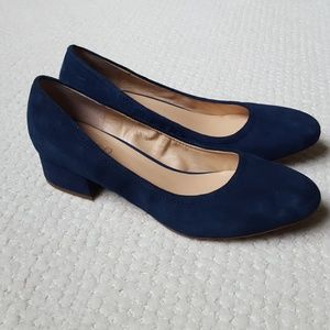 Franco Sarto Hartford blue leather pumps 8.5M NEW